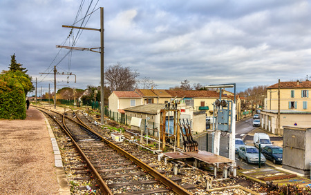 railway points: Control post of railway switches - Arles station, France