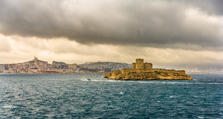 castle if: View of the If castle in the Mediterranean sea - France