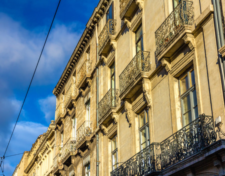 Facade of a building in Montpellier - France, Languedoc-Roussillon photo