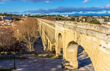 clement: Saint Clement Aqueduct in Montpellier, France Stock Photo