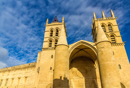 pierre: Montpellier Cathedral of Saint Pierre - France, Languedoc-Roussillon Stock Photo