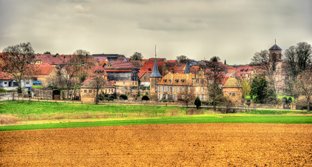 View of Osthoffen, a small town in Alsace - France photo