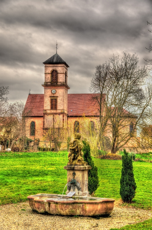 St. Jacques Majeur church in Osthoffen - Bas-Rhine, France photo
