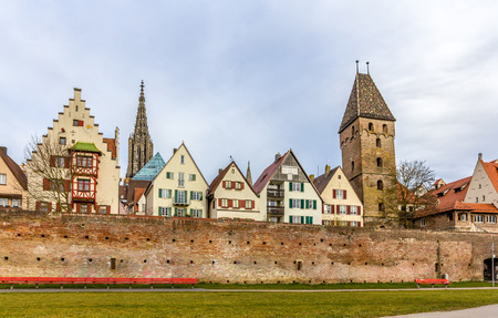 View of Ulm town in Baden-Wurttemberg, Germany photo