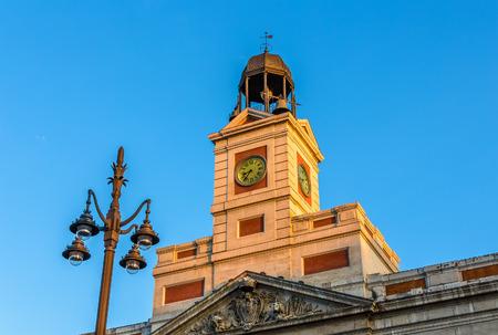 The clock of the Real Casa de Correos in Madrid Stock Photo