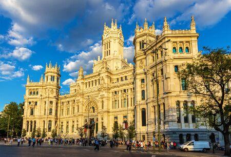 palacio de comunicaciones: Cybele Palace, the City Hall of Madrid - Spain