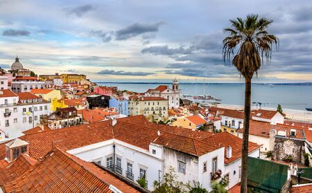 the tagus: View of Lisbon and the Tagus river - Portugal