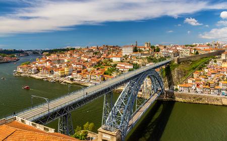 luis: Porto with Dom Luis Bridge - Portugal Editorial