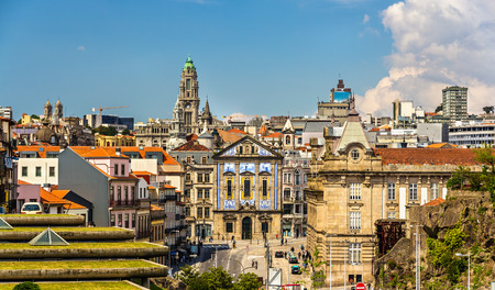 View of the city center of Porto - Portugal