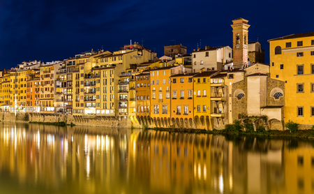 embankment: View of embankment in Florence - Italy