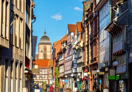 Houses in the Gottingen town center - Germany 新闻类图片