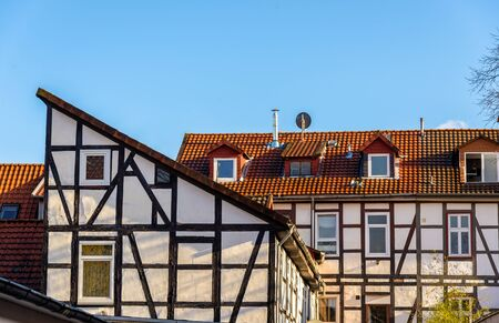 timbered: Traditional timbered buildings in Gottingen - Germany, Lower Saxony