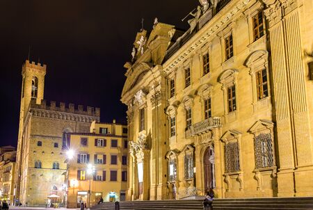 firenze: San Firenze Complex at night - Italy Editorial
