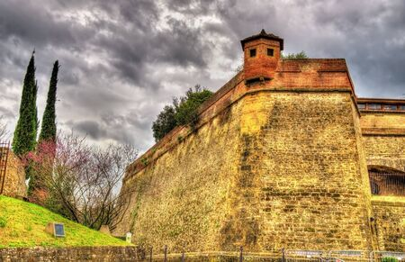 forte: Walls of the Forte di Belvedere in Florence - Italy