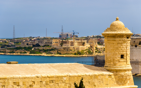 fortifications: View of fortifications of Valletta - Malta Editorial