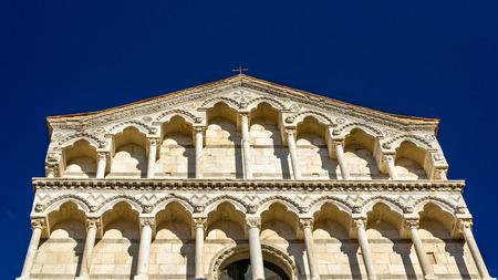 or san michele: San Michele in Borgo church in Pisa - Italy