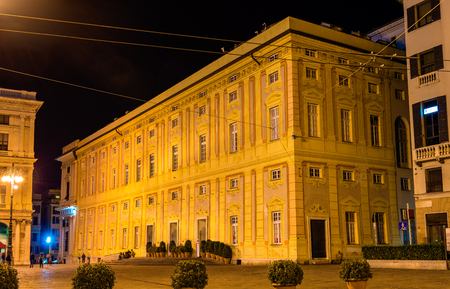 ducale: View of Palazzo Ducale in Genoa, Italy Editorial