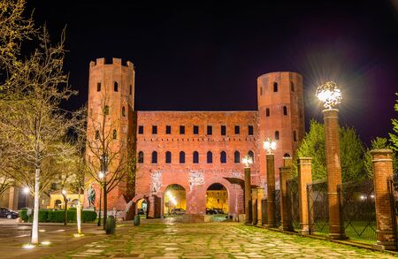italy background: Palatine Towers in Turin - Italy
