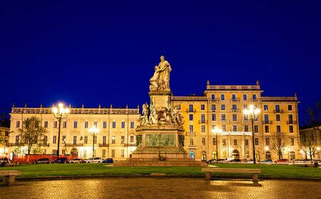 cavour: Statue of Camillo Benso, Count of Cavour in Turin - Italy