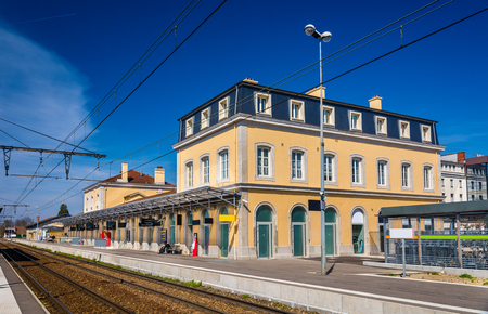 france station: Station of Bourg-en-Bresse - France, Rhone-Alpes Editorial