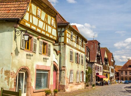 timbered: Traditional timbered houses in Bergheim - Alsace, France Editorial