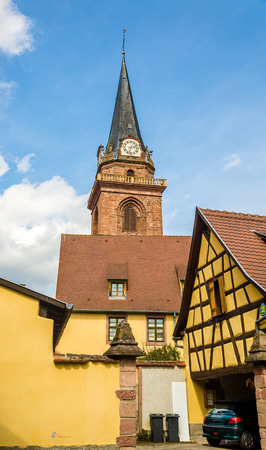 Church of Assumption of the Blessed Virgin Mary in Bergheim - France photo