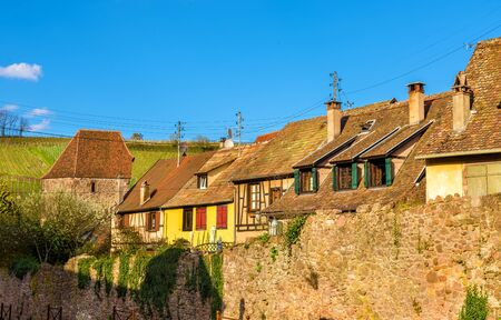 City walls of Riquewihr - Alsace, France