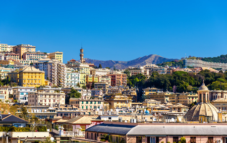 liguria: View of Genoa city - Italy, Liguria Stock Photo