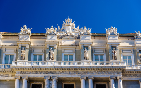 doges: Details of the Doges Palace in Genoa - Italy Editorial