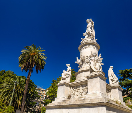 christopher: Statue of Christopher Columbus in Genoa - Italy Editorial