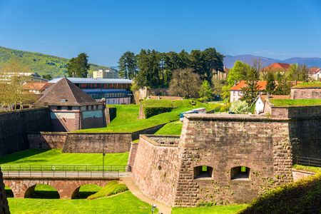 belfort: Walls of the fortress of Belfort - France