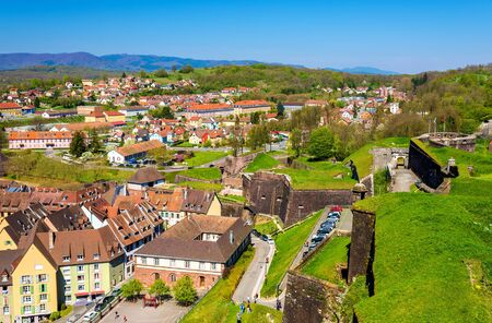 france: View of Belfort from the fortress - France