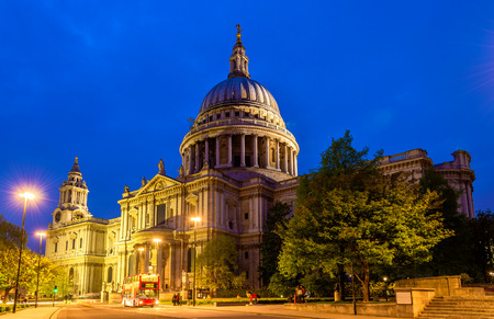 cathedrals: View of St Paul Cathedral in London, England Stock Photo