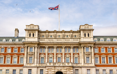 commonwealth: Facade of the Old Admiralty Building - London, England Editorial
