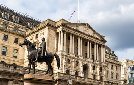 england: Equestrian statue of Wellington in London - England Stock Photo