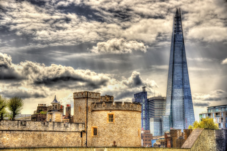 walls of the Tower of London - England