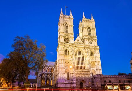 typically english: Westminster Abbey in the evening - London, England