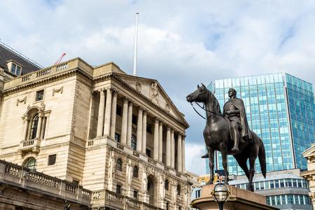 statue: Equestrian statue of Wellington in London - England Stock Photo