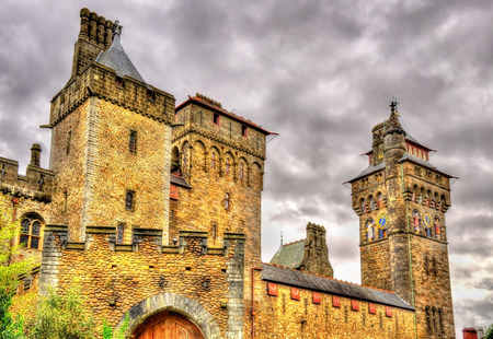 View of Cardiff Castle - Wales, Great Britain Editorial
