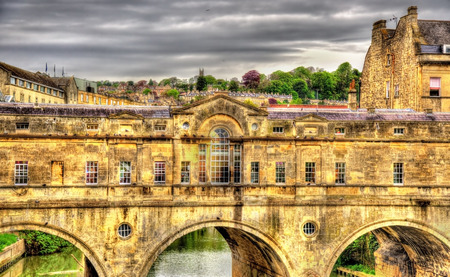 Pulteney Bridge Over The River Avon In Bath, England Photo