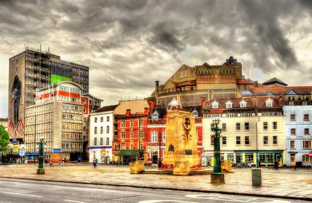 The Centre, a public open space in Bristol, England 写真素材