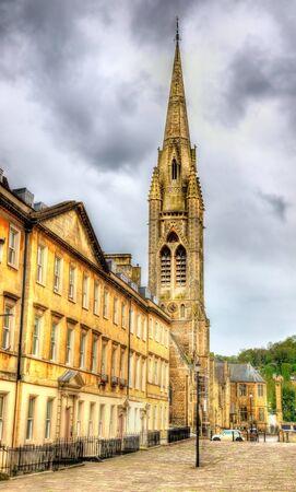evangelist: St John the Evangelist church in Bath - England Stock Photo