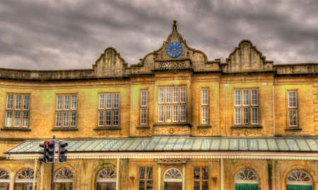 south west england: Bath Spa railway station - South West England Stock Photo