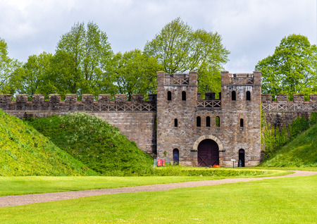 north gate: North Gate of Cardiff Castle - Wales Editorial