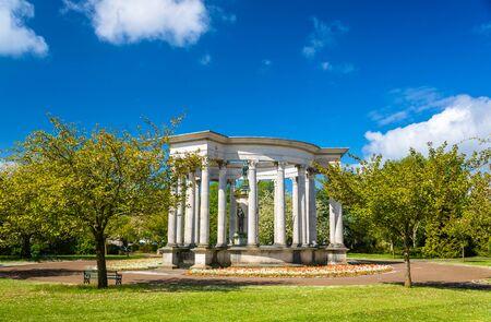 the memorial: Welsh National War Memorial in Alexandra Gardens, Cardiff
