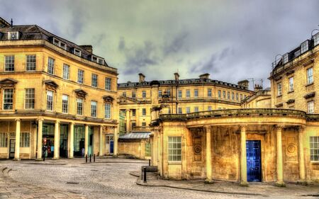 bath: Ancient roman baths in Bath city, England Stock Photo