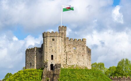 norman castle: Norman Keep of Cardiff Castle - Wales