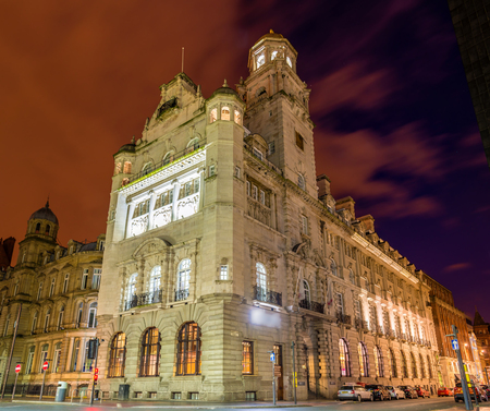 aloft: The Royal Insurance Building, a historic building in Liverpool - England Editorial