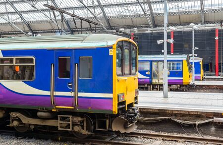 Local trains at Liverpool Lime Street Train Station - England