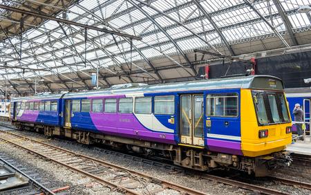 eurostar: Local train at Liverpool Lime Street Train Station - England
